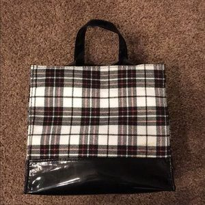 NEW. Patent leather black and white plaid purse🎁